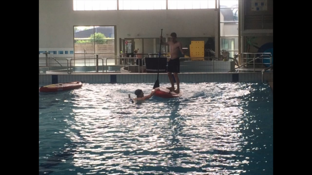 Initiation Paddle Piscine Houdan 2018 avec Piscine Houdan