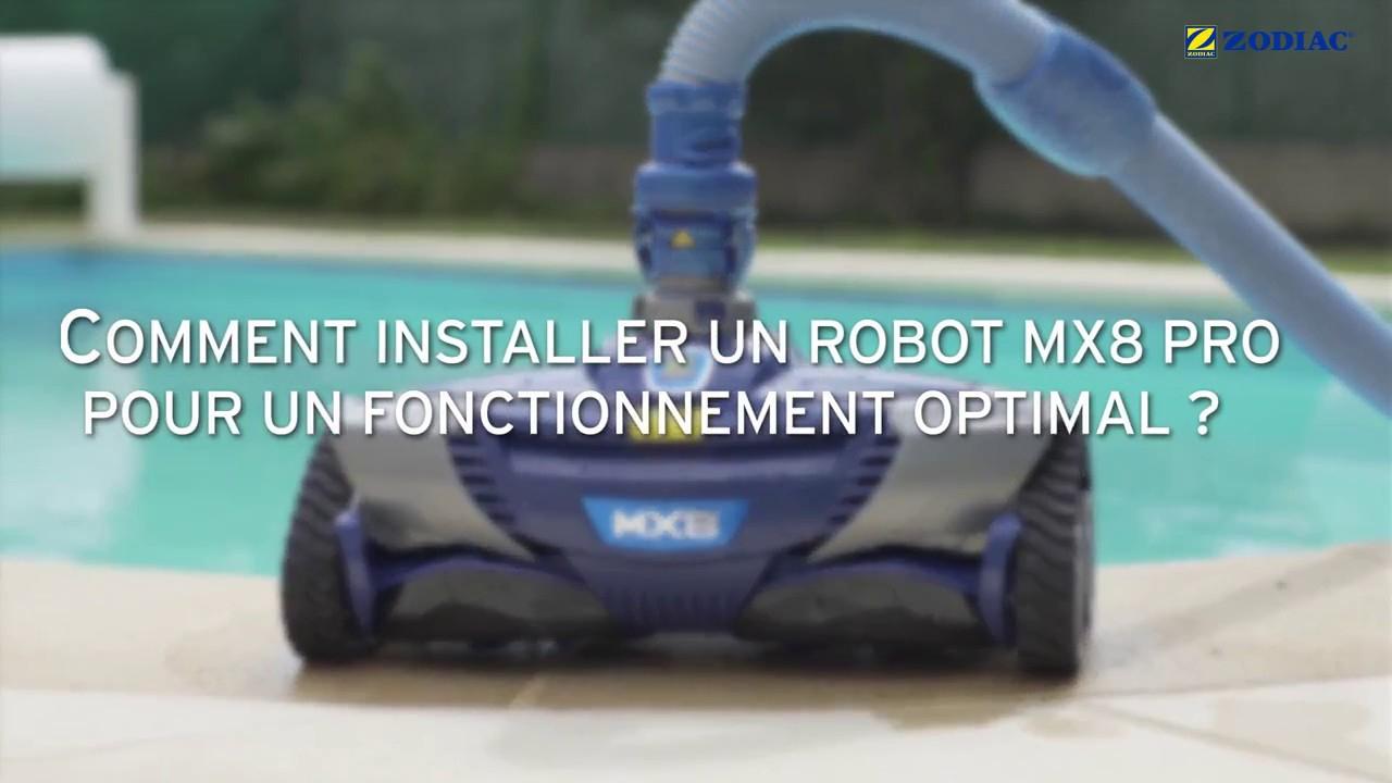 Installation D'un Nettoyeur À Aspiration Zodiac Mx8 Pro (Ap 2015) / Mx9 /mx6 intérieur Robot Piscine Zodiac Mx8