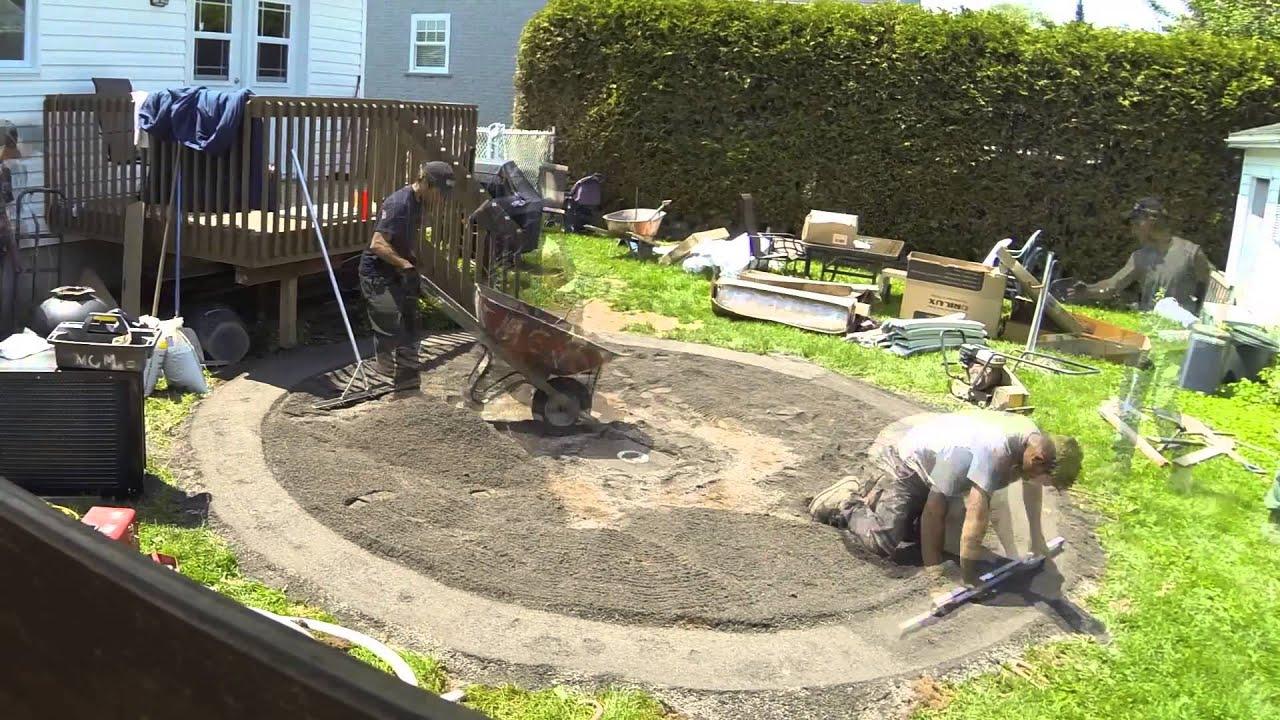 Installation D'une Piscine Hors Terre | Aboveground Pool Installation tout Installer Une Piscine Hors Sol