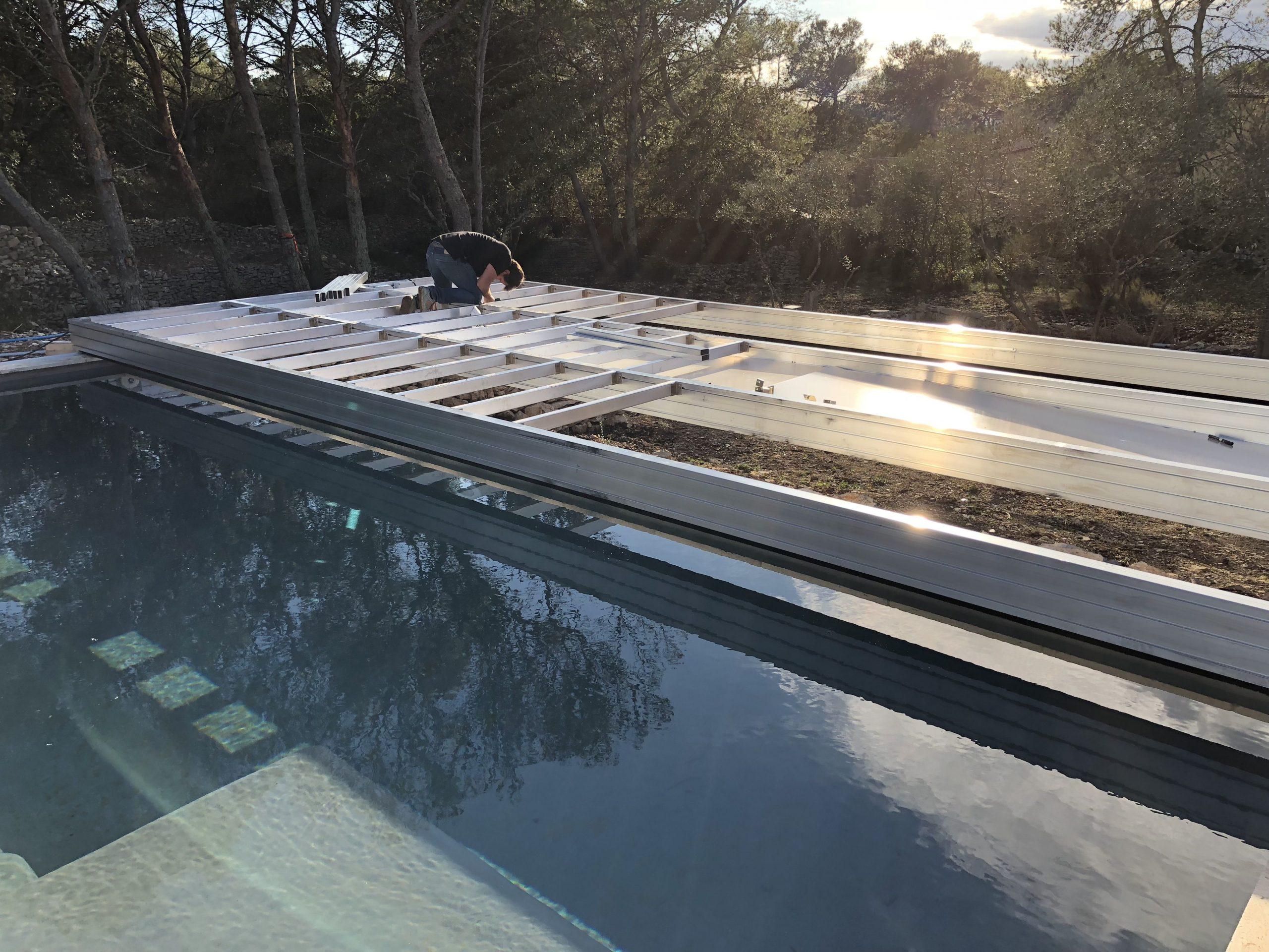 Installation D'une Terrasse Mobile À Nimes | Terrasse Mobile ... avec Fabriquer Une Terrasse Mobile Pour Piscine