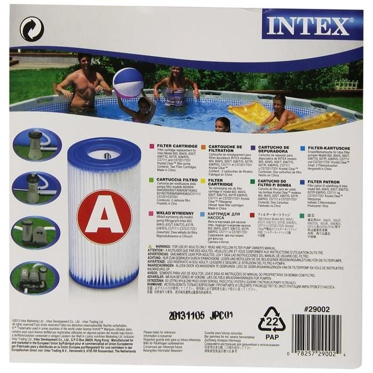 Intex 0775431 Cartouche De Filtre Pour Piscine Bleu 10,8 X ... encequiconcerne Piscine Tubulaire Cdiscount