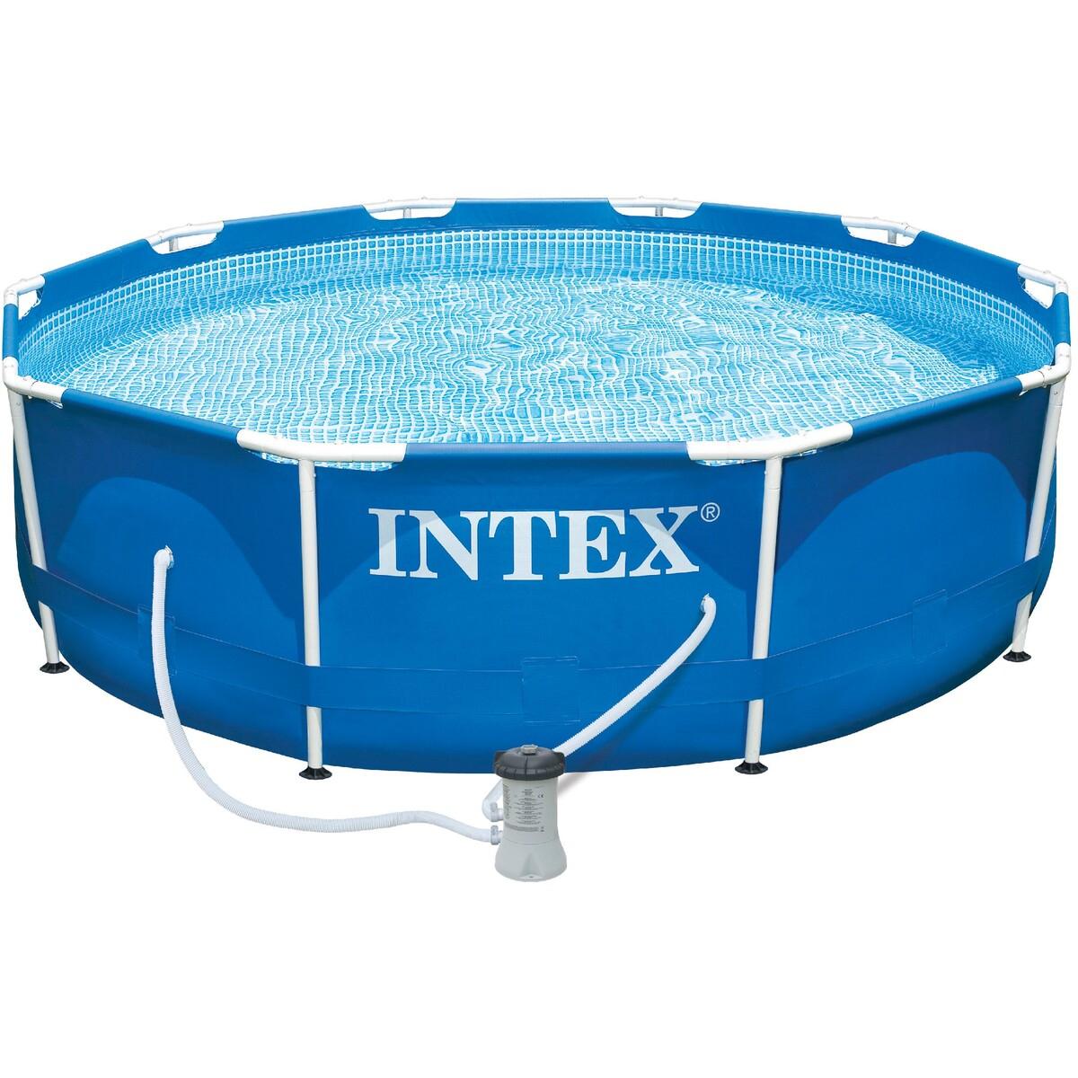 Intex 10-Foot Frame Pool tout Liner Piscine Intex