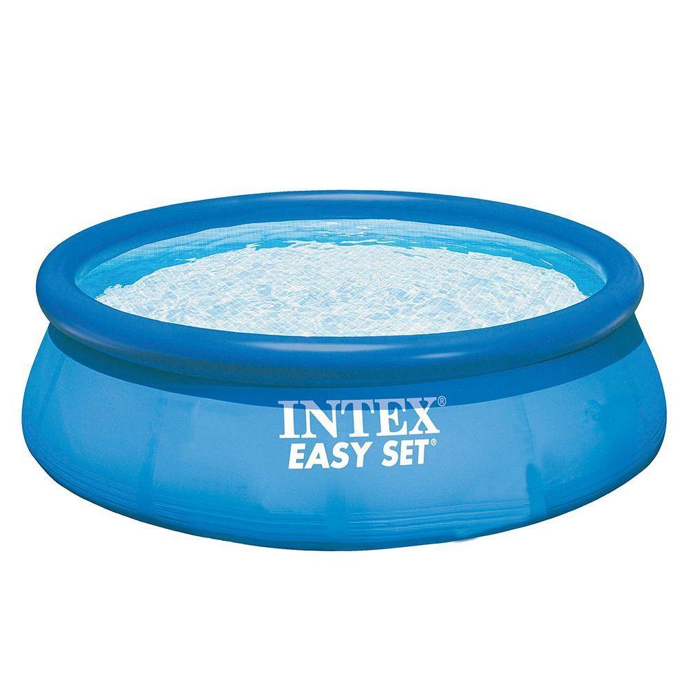 Intex 10-Ft. Easy Set Swimming Pool, Blue | Formes, Plans Et ... destiné Manomano Piscine