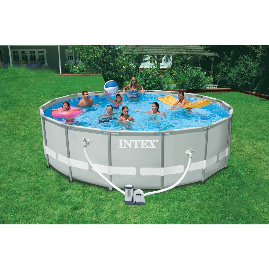 "Intex 16' X 48"" Ultra Frame Swimming Pool - Walmart encequiconcerne Piscine Intex Ultra Frame"