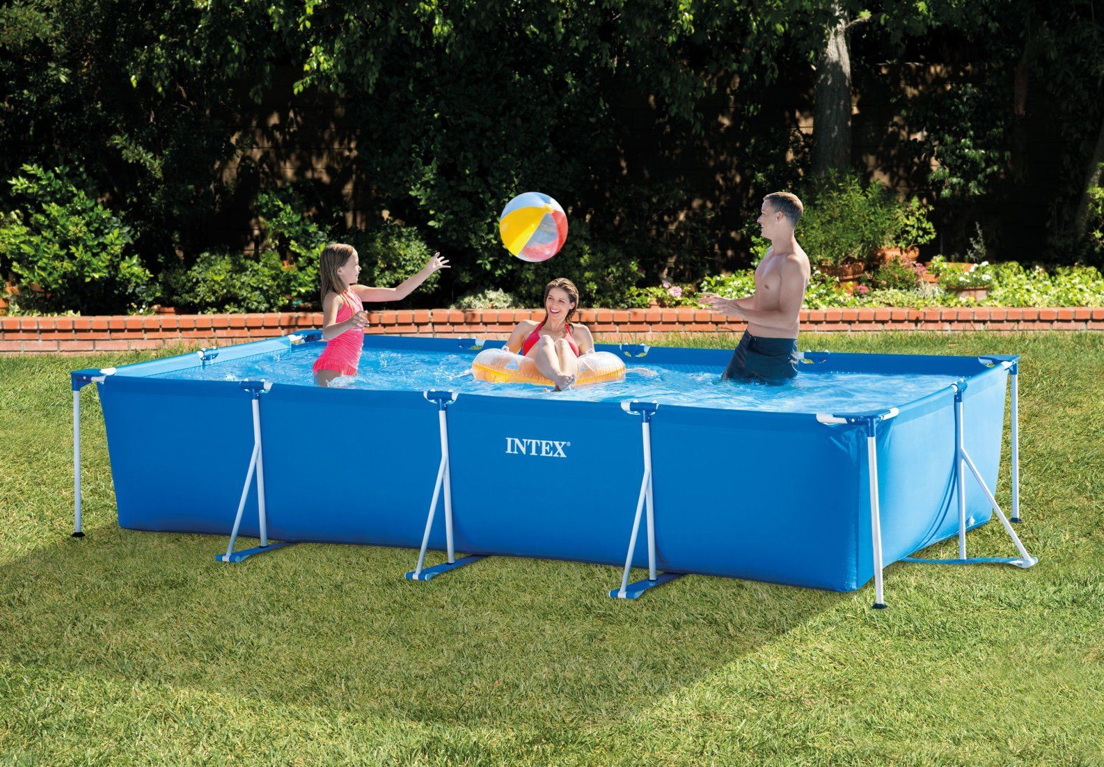 Intex 28273 4.5M X 2.2M X 0.84M Cadre Rectangulaire Hors Sol Piscine  Familiale - Buy Piscine À Ossature,piscine Hors Sol,piscine Rectangulaire  Product ... destiné Piscine Hors Sol Rectangulaire Intex