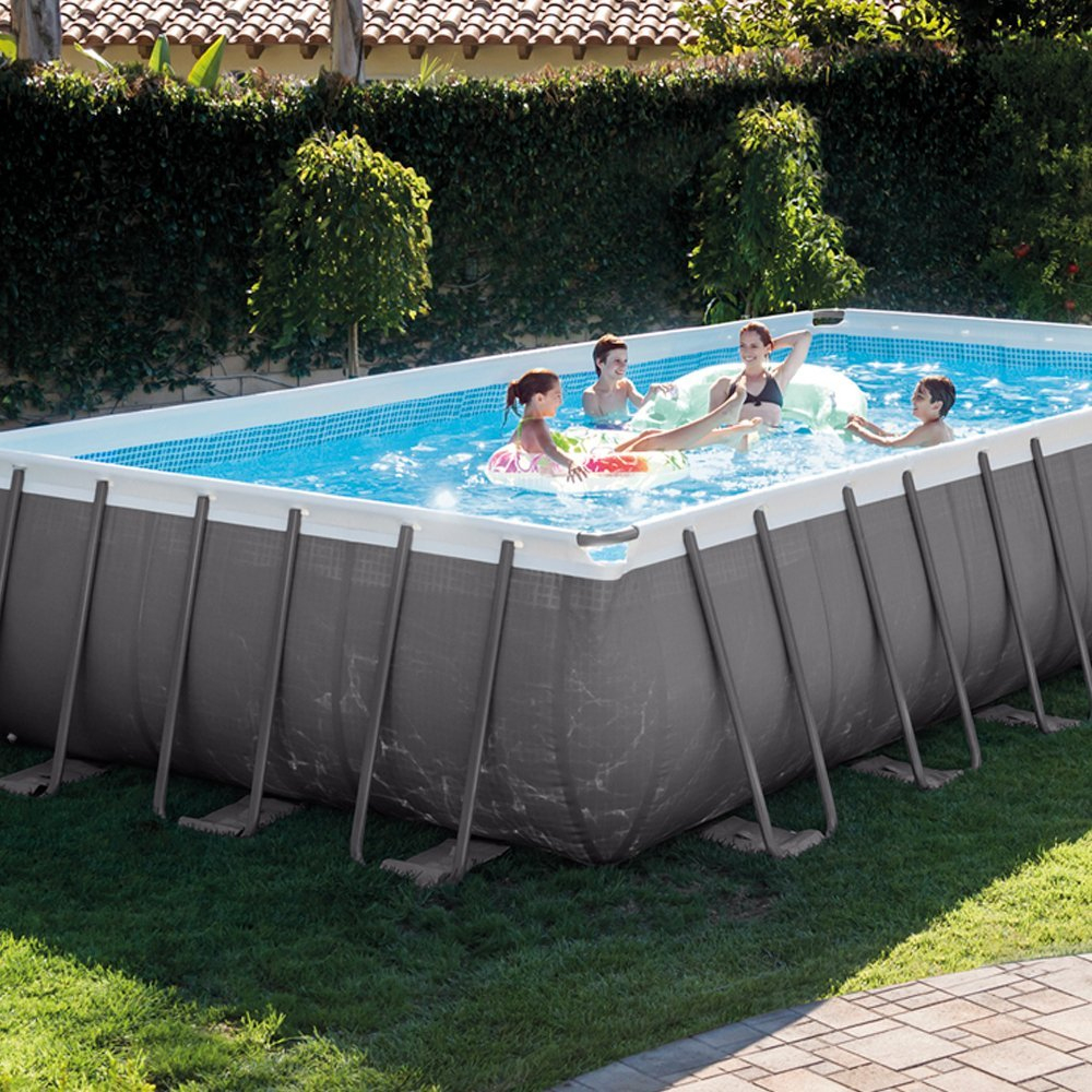 Intex 31 805 Litres 26362 732 X 366 X 132 Cm Piscine ... serapportantà Piscine Hors Sol Rectangulaire Intex