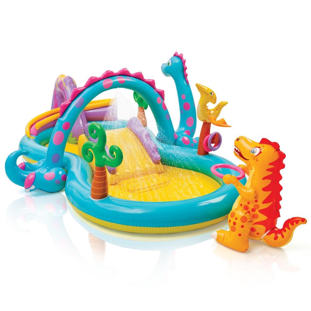 Intex 57135 Dinoland Play Center Piscine Gonflable Pour Enfants Aire De Jeux avec Aire De Jeux Gonflable Piscine