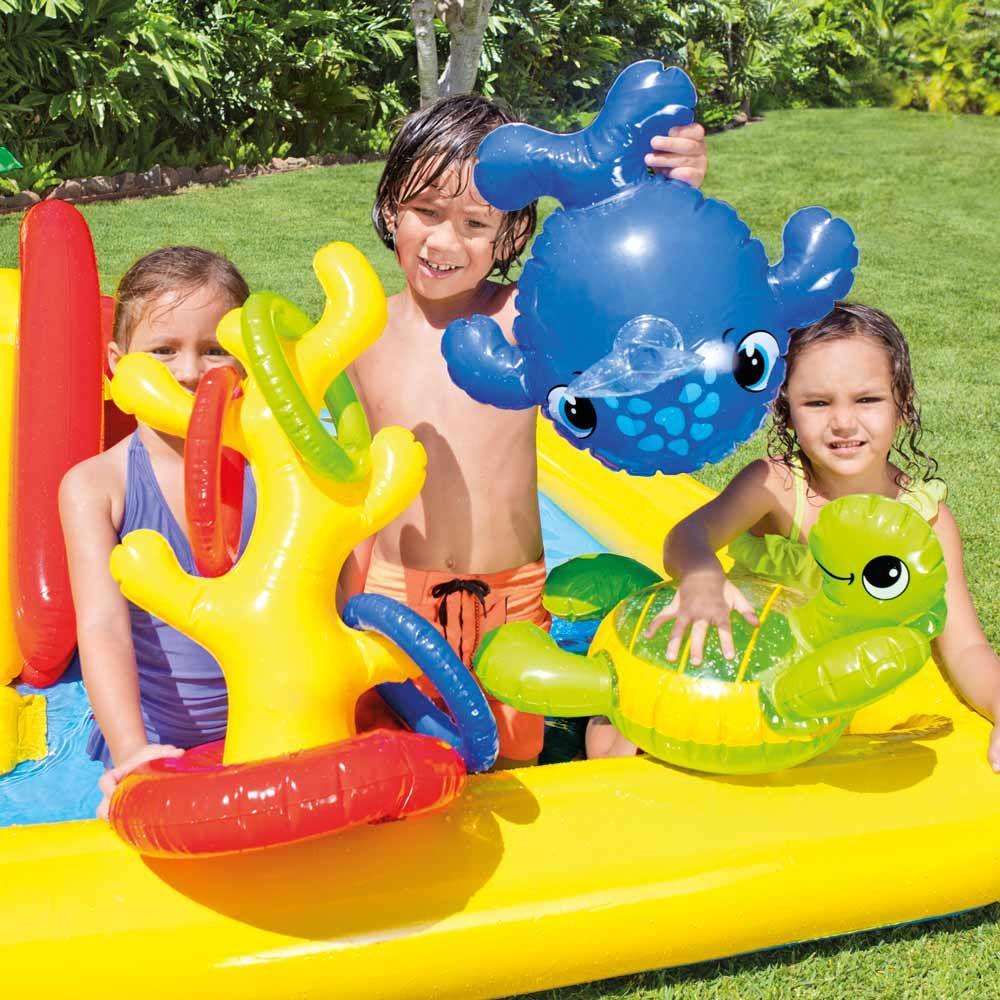 Intex 57454 Ocean Play Center Piscine Gonflable Pour Enfants ... intérieur Aire De Jeux Gonflable Piscine