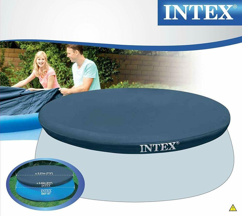 Intex Couverture De Piscine Ronde 244 Cm Protection Bâche De ... encequiconcerne Bache Piscine Ronde