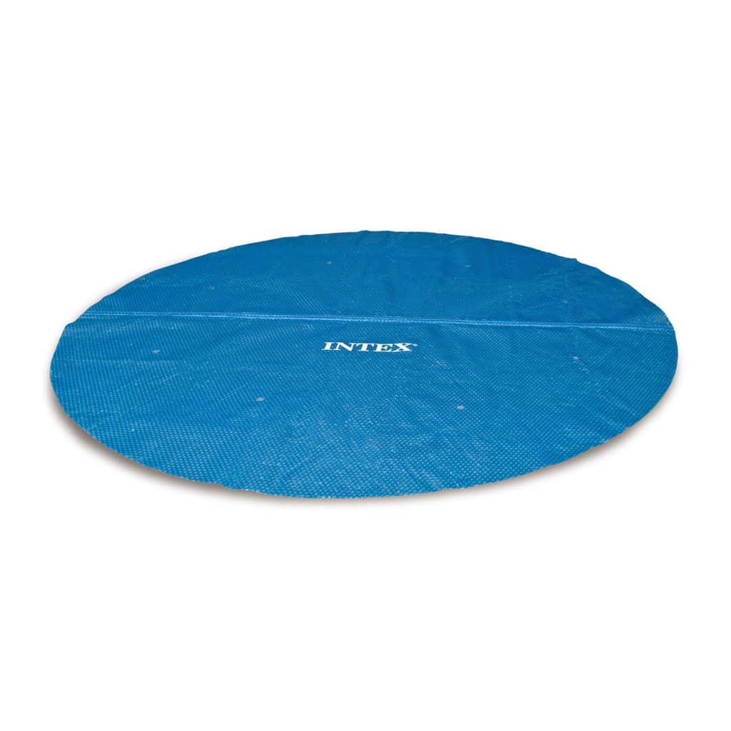 Intex Couverture Solaire De Piscine Ronde 366 Cm 29022 - 91513 encequiconcerne Bache Chauffante Piscine Intex