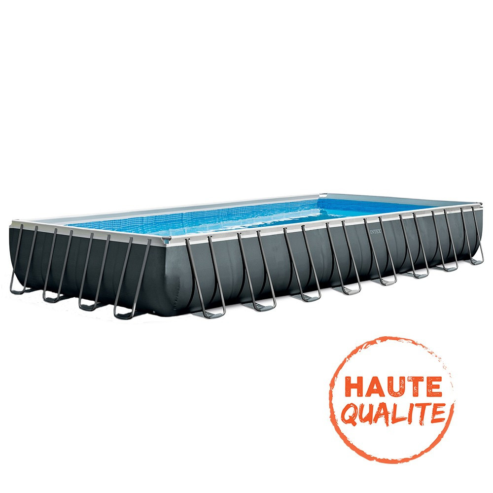 Intex Kit Piscine Tubulaire Ultra Xtr Rectangulaire 9,75 X 4,88 X 1,32 M -  Hyper Brico avec Piscine Hors Sol Tubulaire Rectangulaire
