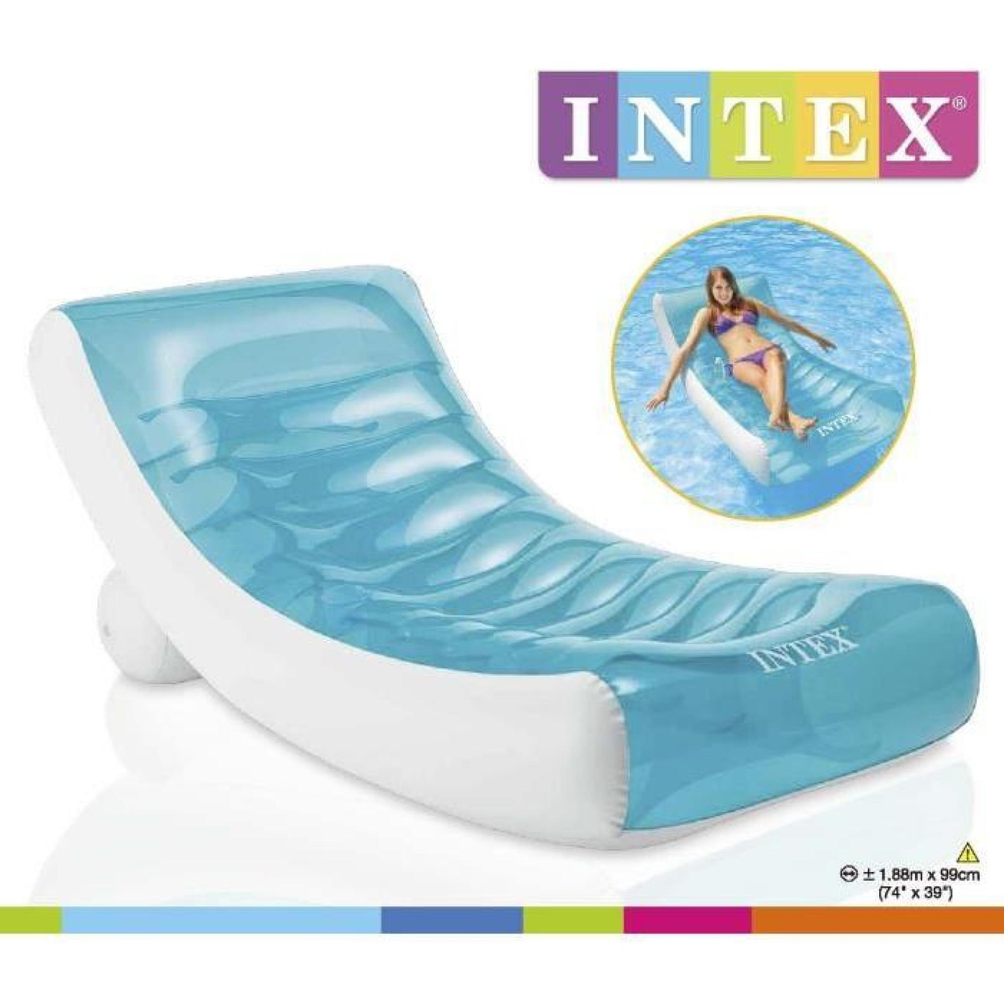 Intex Matelas Gonflable Adulte Pour Piscine Lounge 188 X 99 Cm destiné Matelas Piscine Intex
