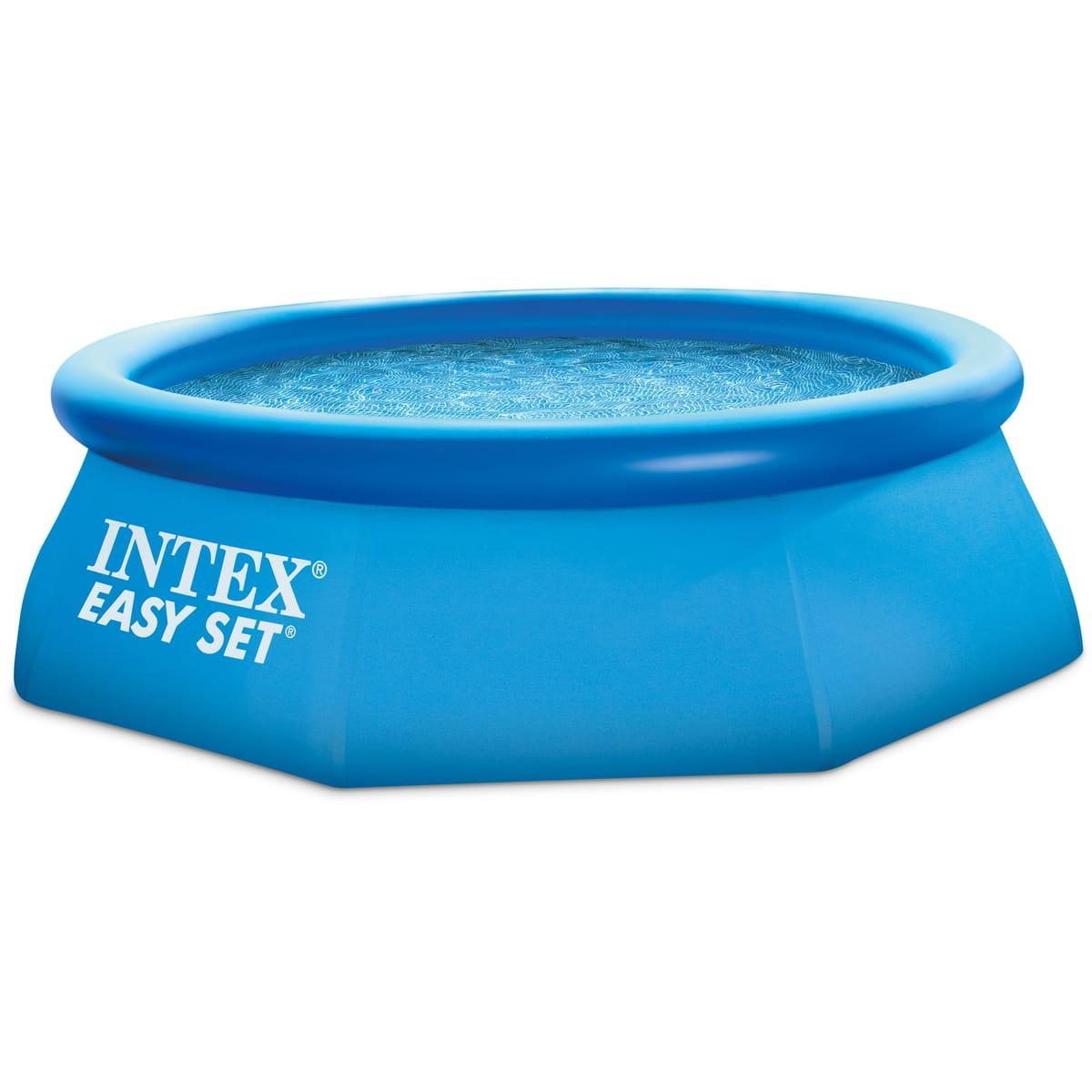 Intex Piscine Autoportée Ronde 2,44 X 0.76M Easy Set pour Piscine Gonflable Castorama