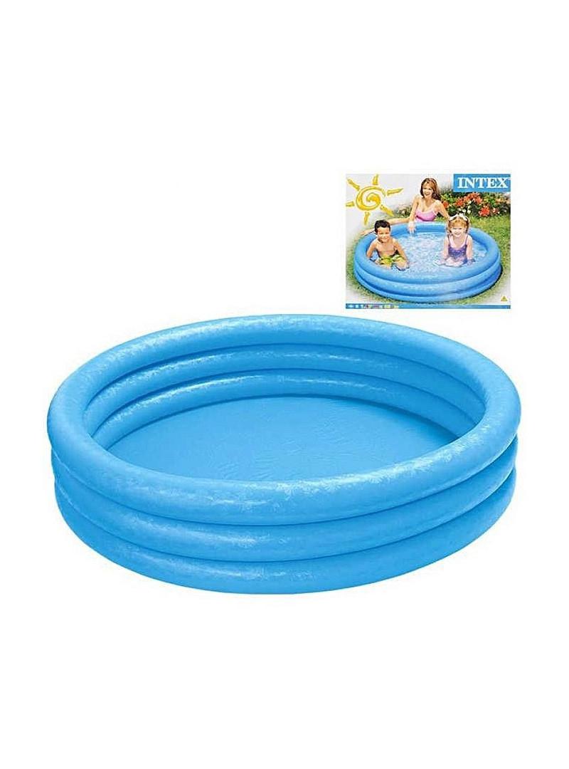 Intex - Piscine Gonflable Bleue Cristal Pour Enfants - 168X38 Cm concernant Piscine Enfant Intex
