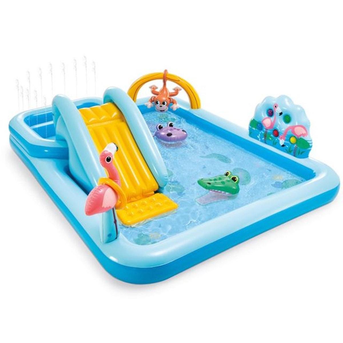 Intex® Piscine Gonflable Enfant Jungle Bleu tout Aire De Jeux Gonflable Piscine
