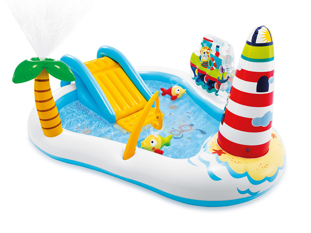 Intex® Piscine Gonflable Enfant Phare Et Poissons serapportantà Piscine Intex Enfant