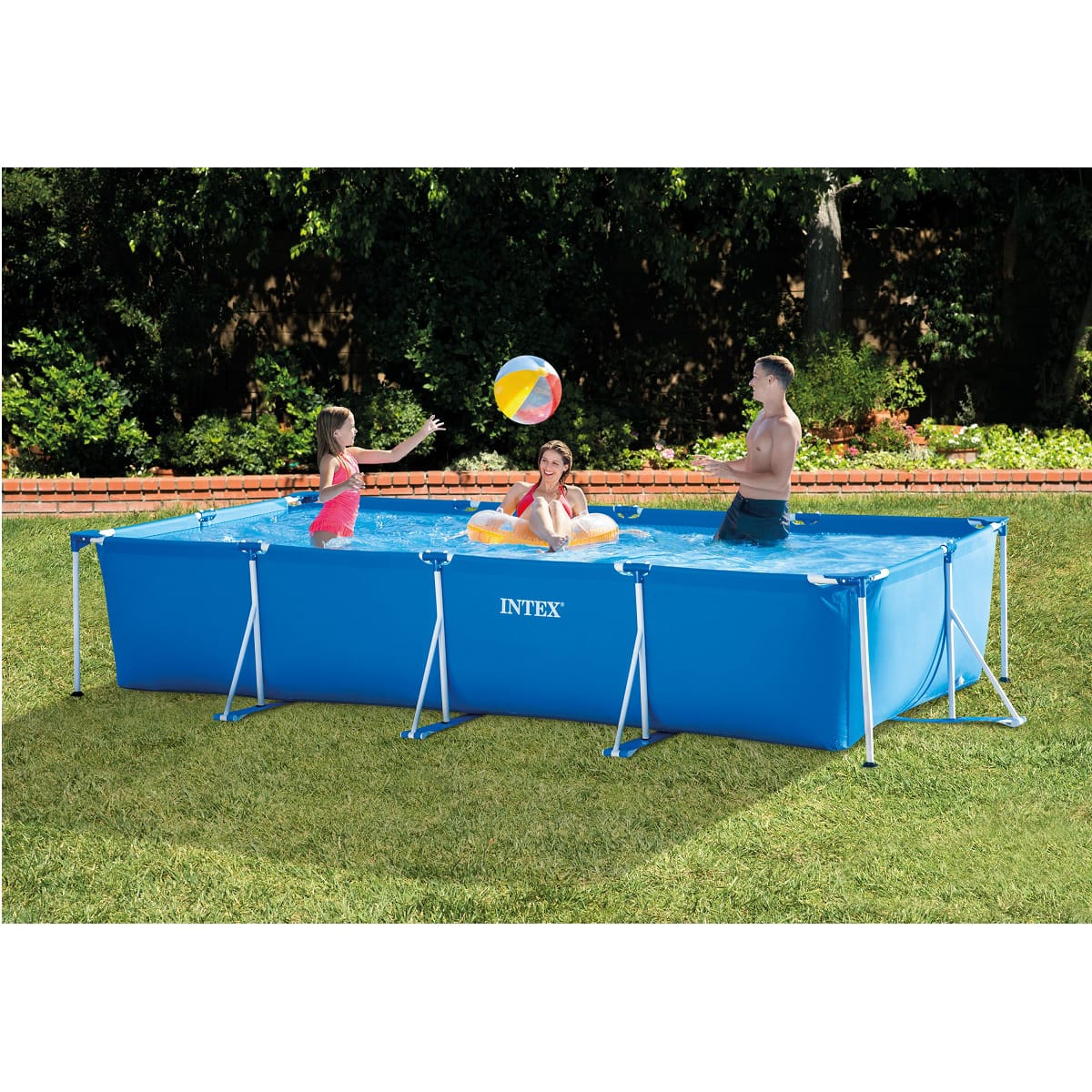 Intex Piscine Tubulaire Rectangulaire 4,50X2,20X0,84M Metal Frame destiné Auchan Piscine Tubulaire
