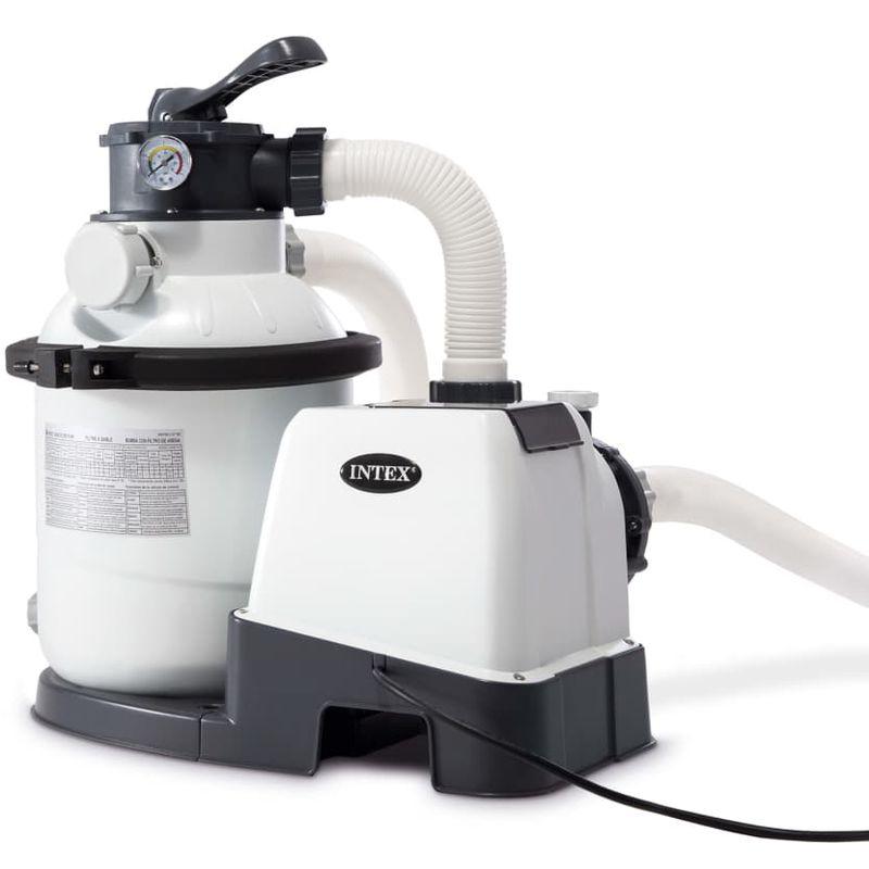 Intex Pompe De Filtration À Sable Krystal Clear 26644Gs | Gris - Filtres  Pour Piscines Et Spas | Gris | Gris concernant Pompe Filtration Piscine Hors Sol Intex
