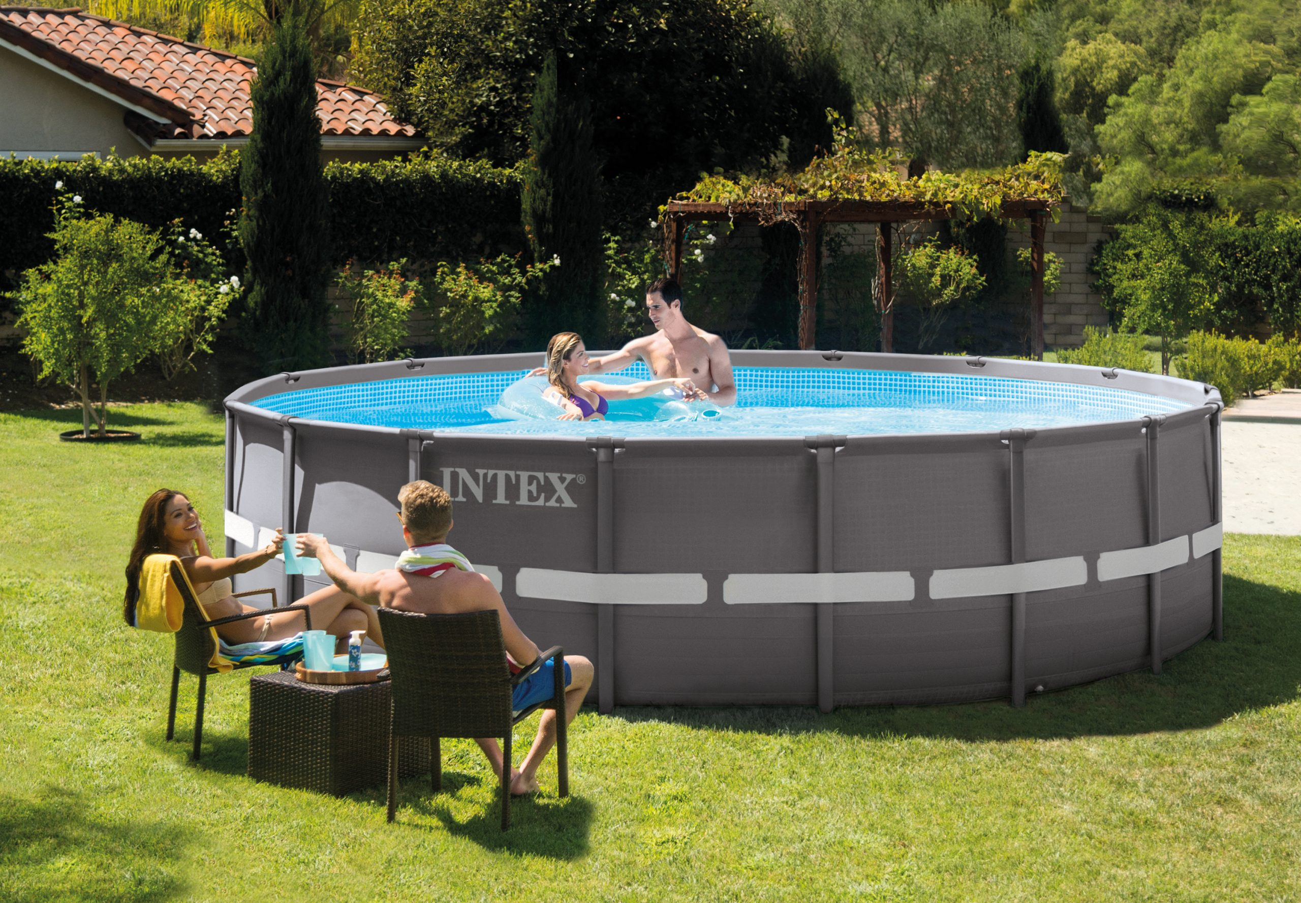 Intex Pools - Ultra Frame Swimming Pool 4.88M X 1.22M (16' X ... dedans Piscine Intex Ultra Frame