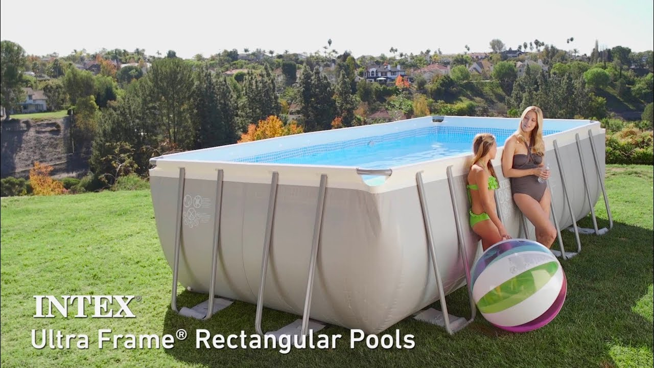 Intex Ultra Frame Rectangular Above Ground Pools avec Piscine Intex Ultra Frame