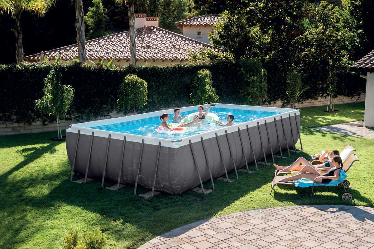 Intex Ultra Silver 7,32 X 3,66 X ↕1,32M - C-Piscine intérieur Piscine Intex 3.66