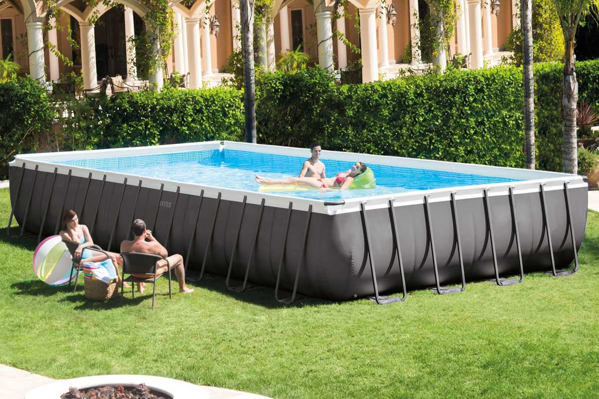 Intex Ultra Silver Pool-Frame 9,75 X 4,88 X ↕1,32M à Piscine Intex Ultra Frame