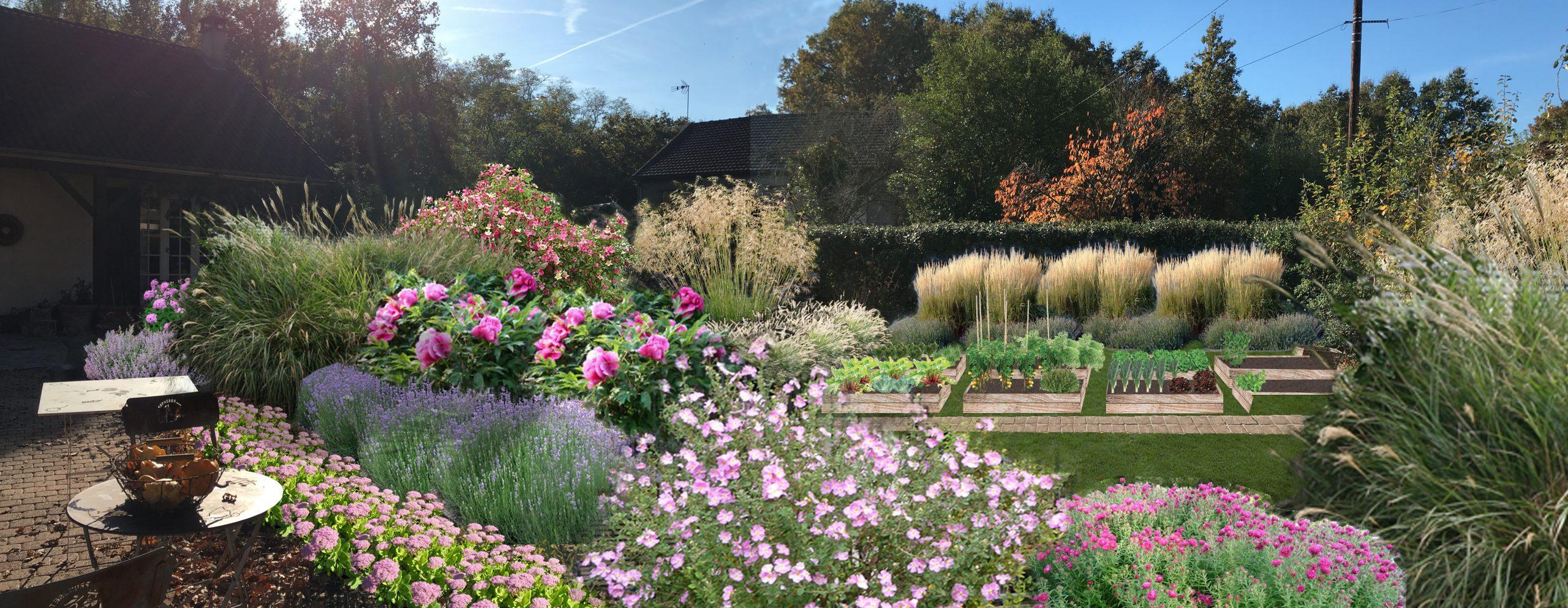 Jardin De Graminees & Vivaces, Eragny-Sur-Oise (95) | Sophie ... dedans Piscine Eragny