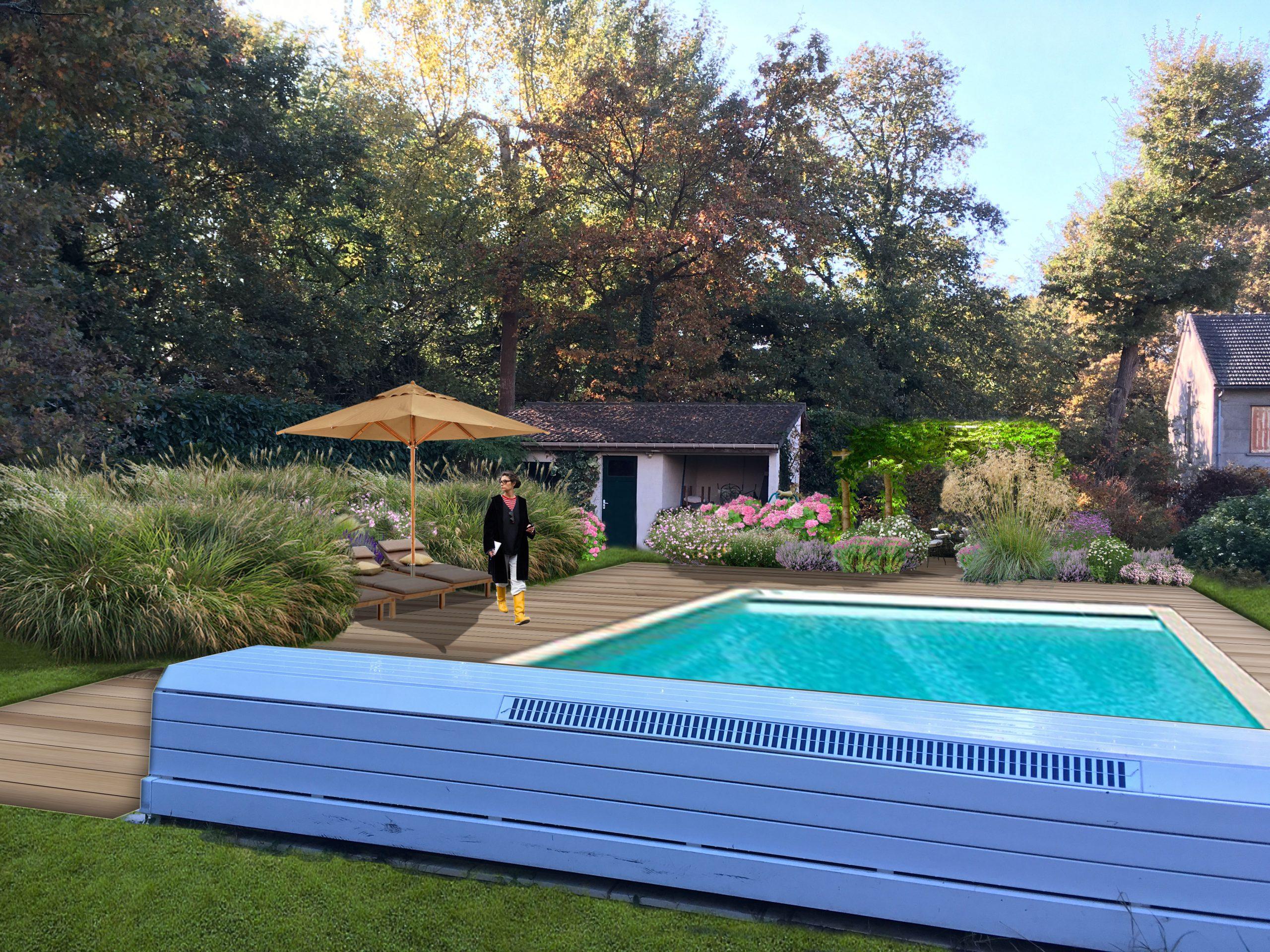 Jardin De Graminees & Vivaces, Eragny-Sur-Oise (95) | Sophie ... destiné Piscine Eragny