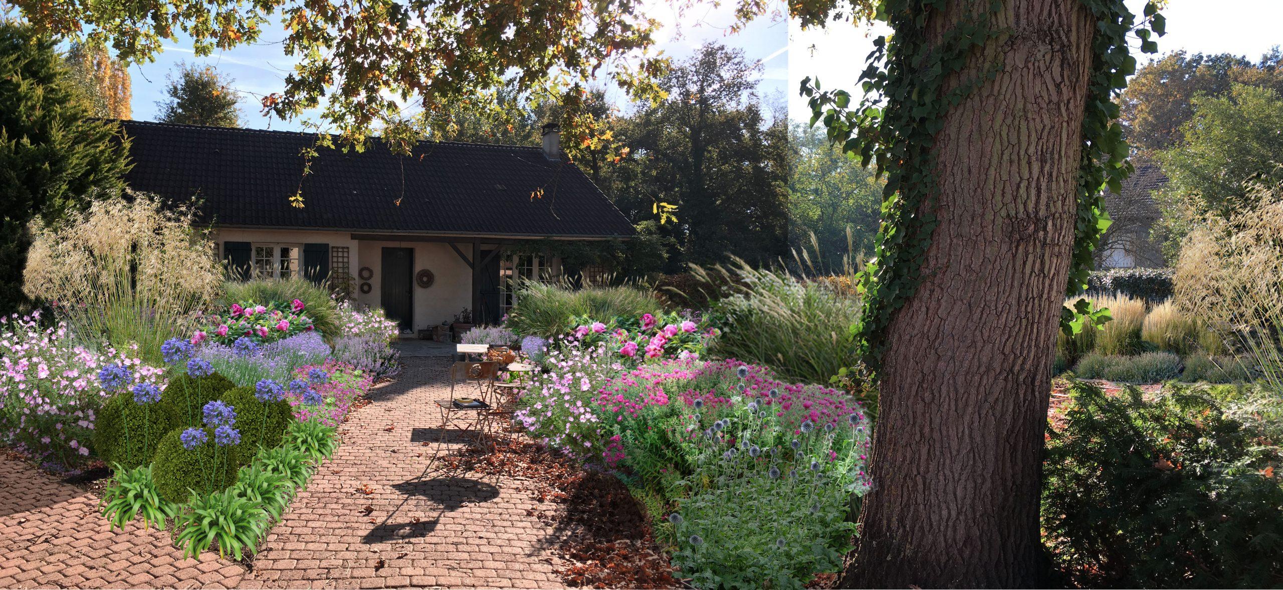 Jardin De Graminees & Vivaces, Eragny-Sur-Oise (95) | Sophie ... serapportantà Piscine Eragny