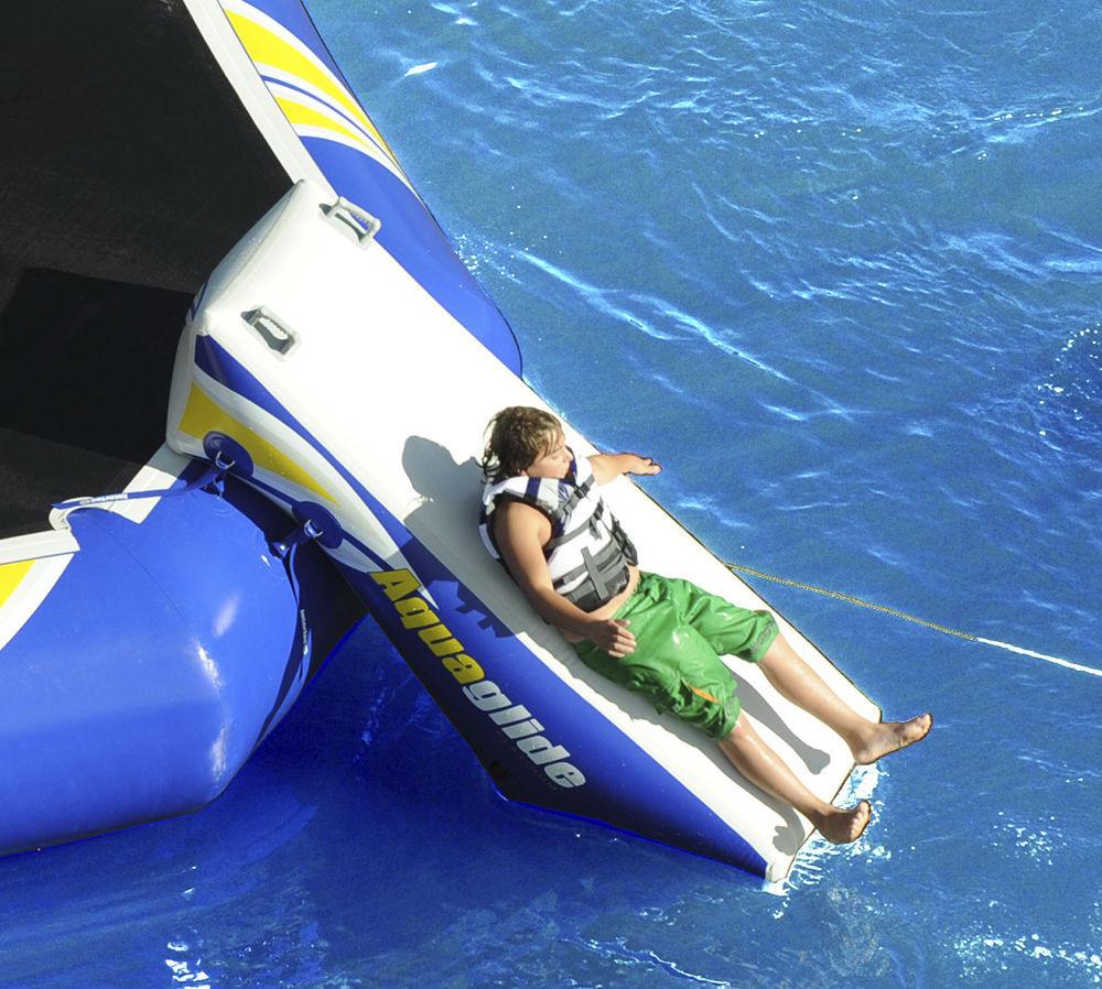 Jeu Aquatique Toboggan / Gonflable - Rebound Slide 16 ... pour Toboggan Gonflable Pour Piscine