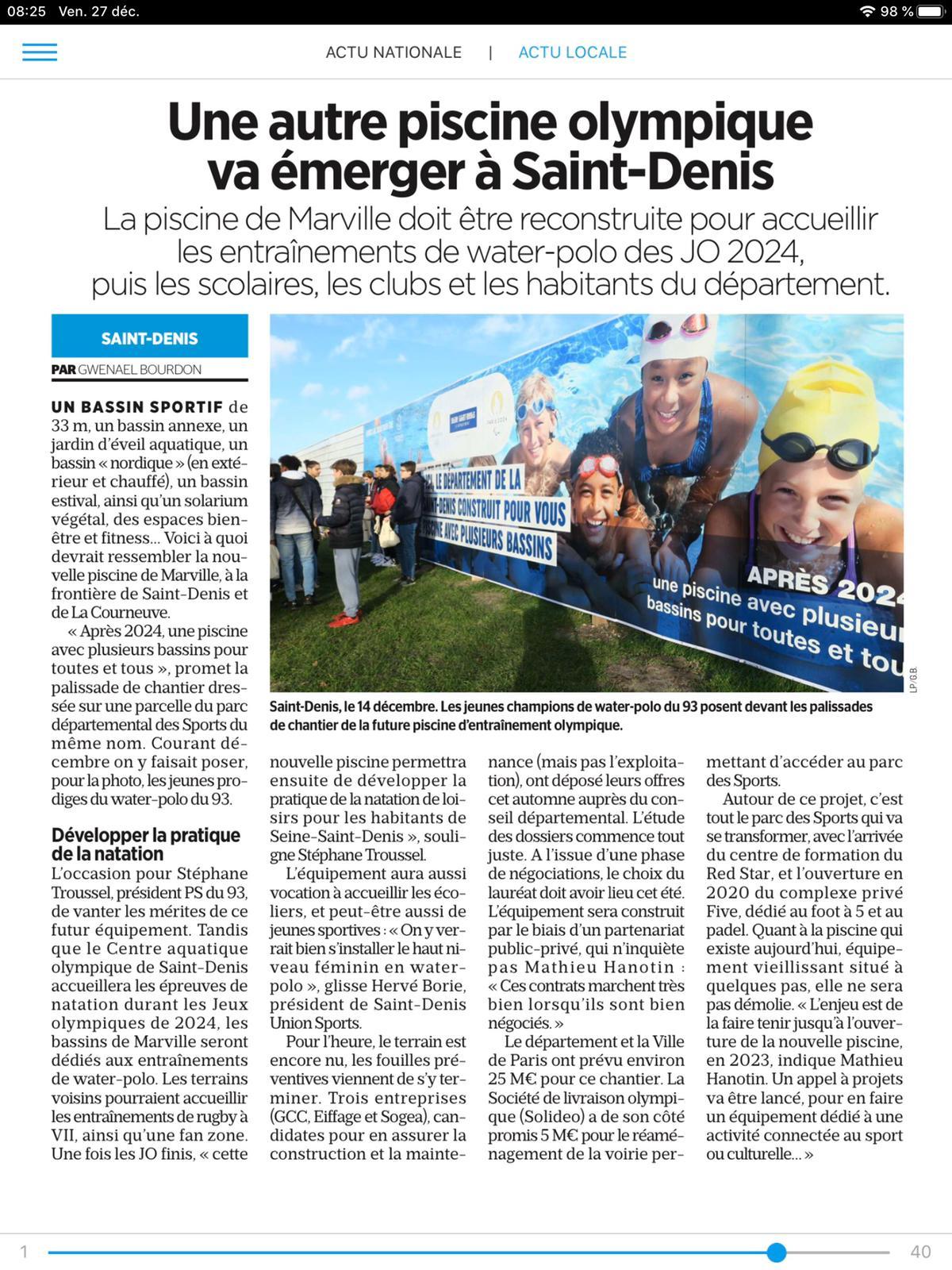 Jo2024:la Piscine À Noisy-Le-Sec Fait Flop? | Le Blog De ... avec Piscine De Noisy Le Sec