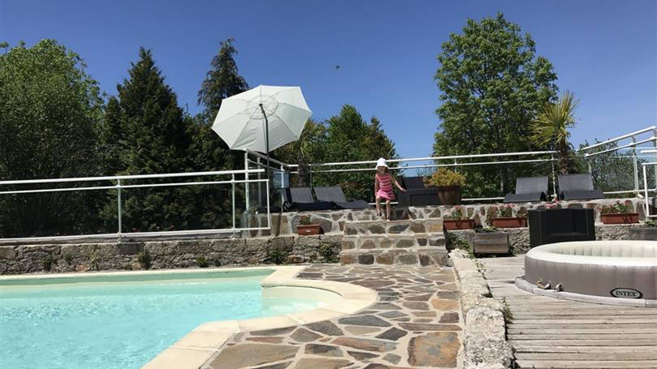 Jolie Propriété Avec Accès Piscine - Vitrac-En-Viadene (Aveyron) avec Piscine Argences