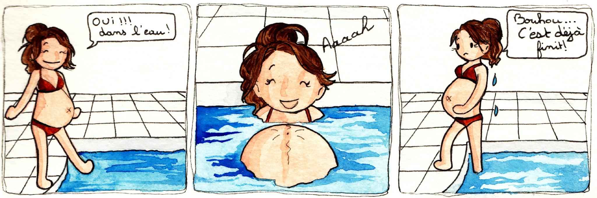 Journal D'une Femme Enceinte - Vive La Piscine - Le Petit ... avec Préparation Accouchement Piscine