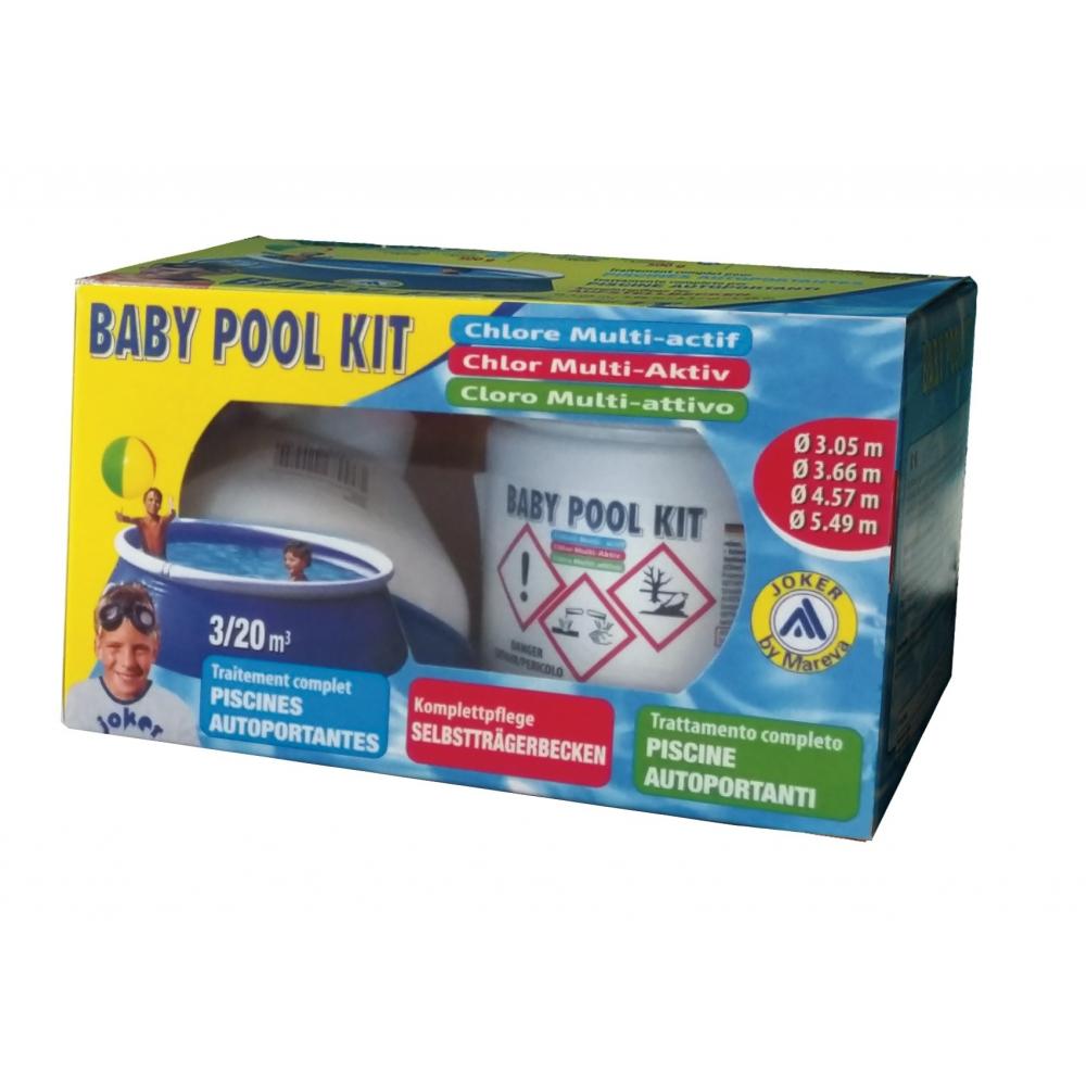 Kit Baby Pool Traitement Au Chlore Muti-Actif - Mareva destiné Traitement Piscine Hors Sol