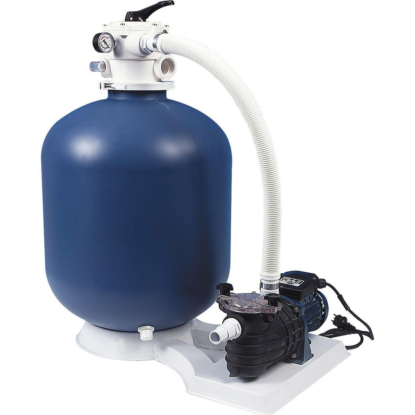 Kit De Filtration À Sable Aqualux 103463 12 M³/h | Kit ... pour Pompe Piscine Leroy Merlin