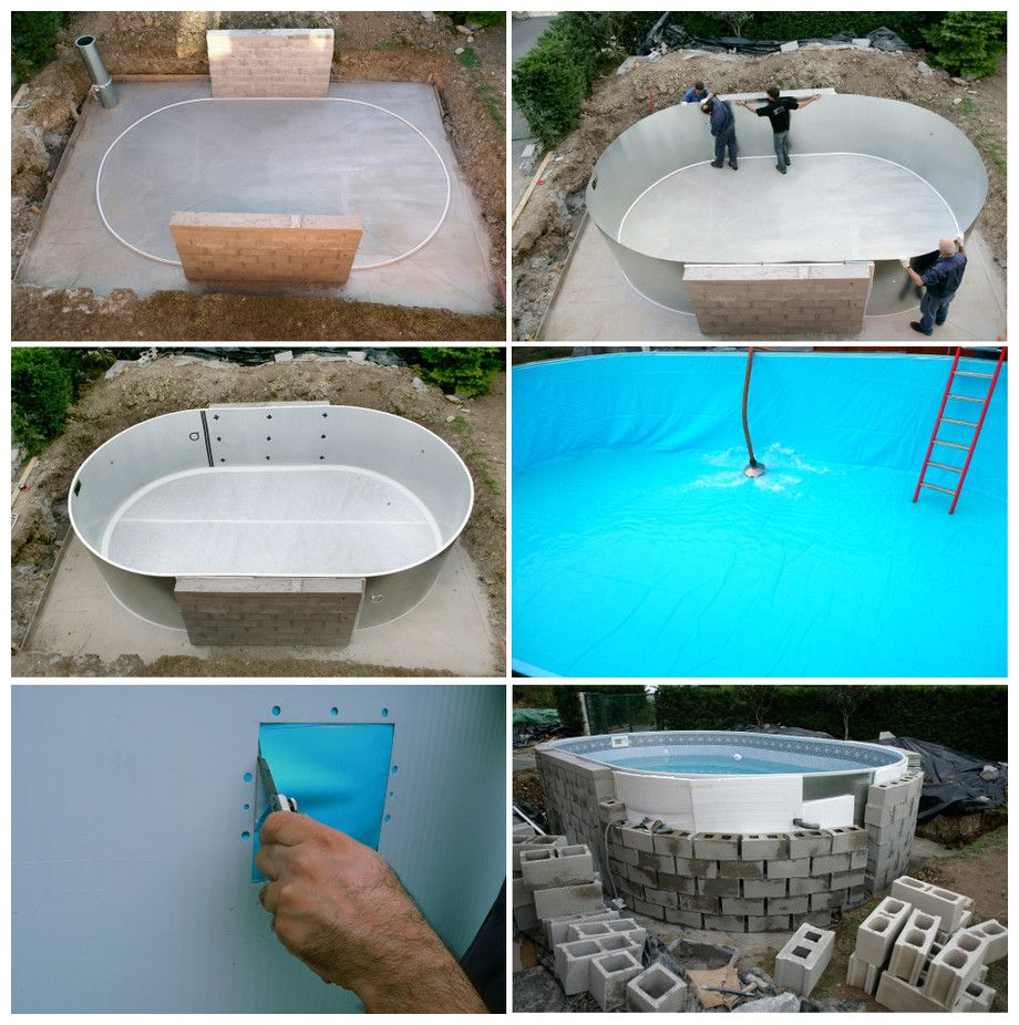 Kit Piscine Acier Enterrée Sumatra - Etapes De Montage ... destiné Piscine En Kit Beton