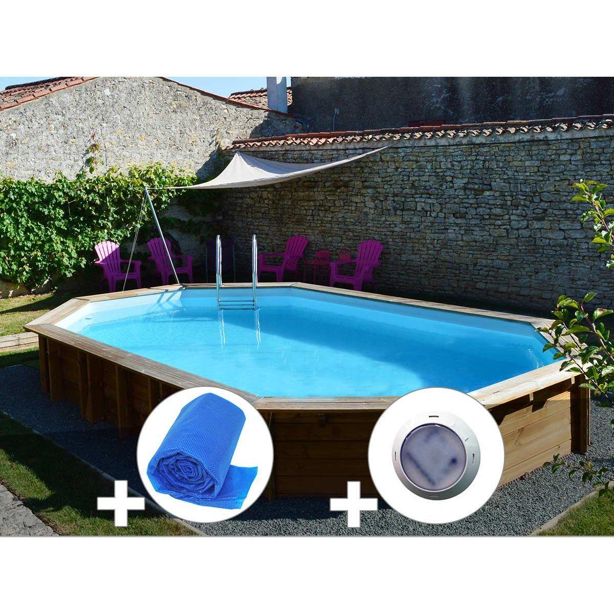 Kit Piscine Bois Sunbay Safran 6,37 X 4,12 X 1,33 M + Bâche ... intérieur Piscine De Loos