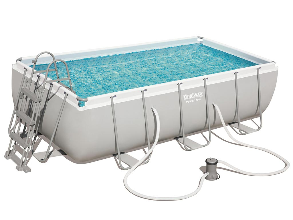 Kit Piscine Tubulaire Bestway Power Steel Frame Pool Rectangulaire  404X201X100Cm dedans Piscine Hors Sol Tubulaire Rectangulaire