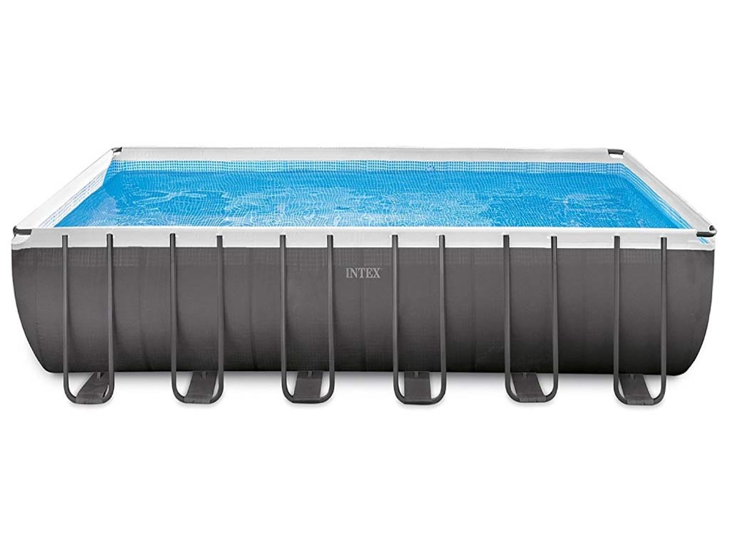 Kit Piscine Tubulaire Intex Ultra Silver Rectangulaire 732 X 366 X 132Cm  Filtration Sable concernant Pompe Filtration Piscine Hors Sol Intex