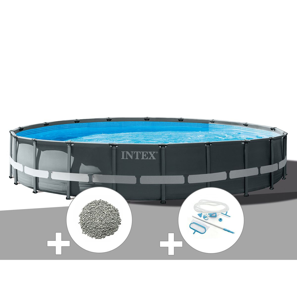 Kit Piscine Tubulaire Intex Ultra Xtr Frame Ronde 6,10 X 1 ... destiné Zeolite Piscine