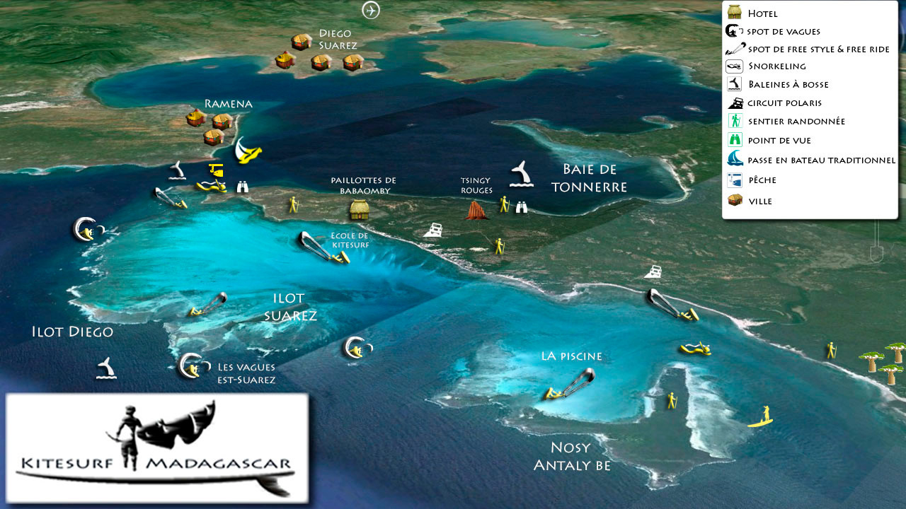 Kitesurf Madagascar Babaomby | Mer D'émeraude | Lodge Et ... concernant Piscine Emeraude