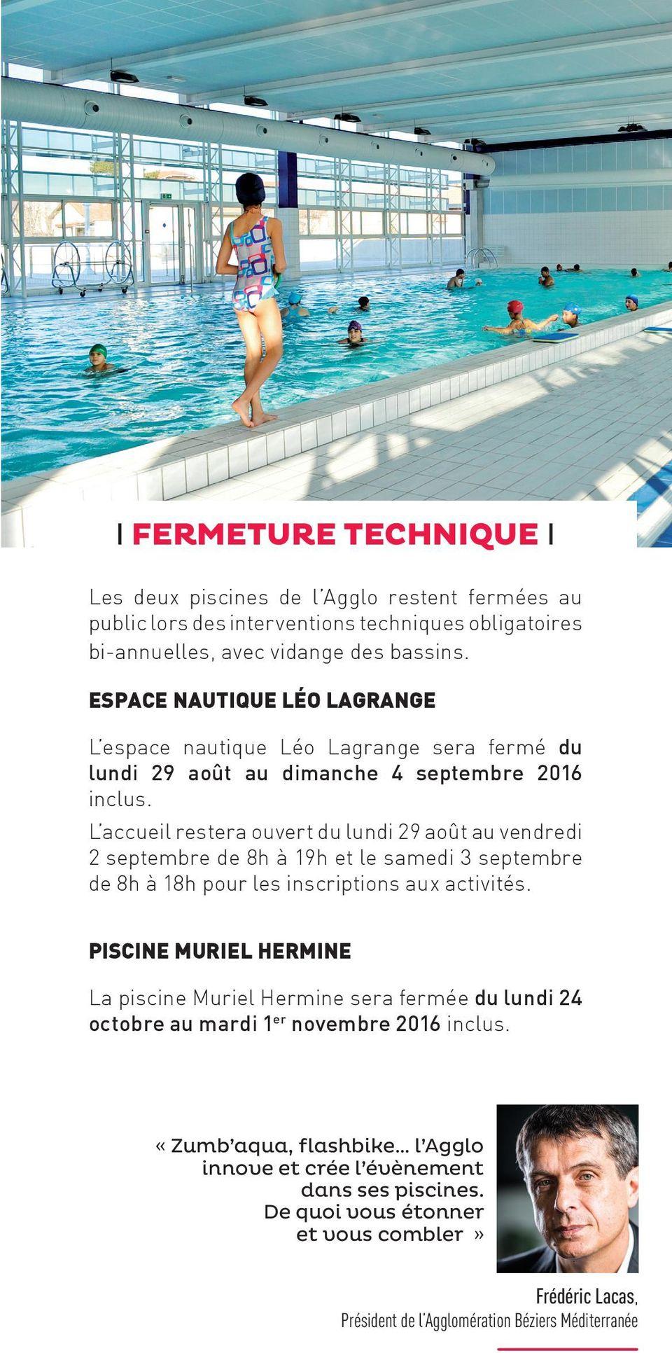 L Actu Des Piscines Léo Lagrange Béziers - Pdf ... destiné Piscine Léo Lagrange Grande Synthe
