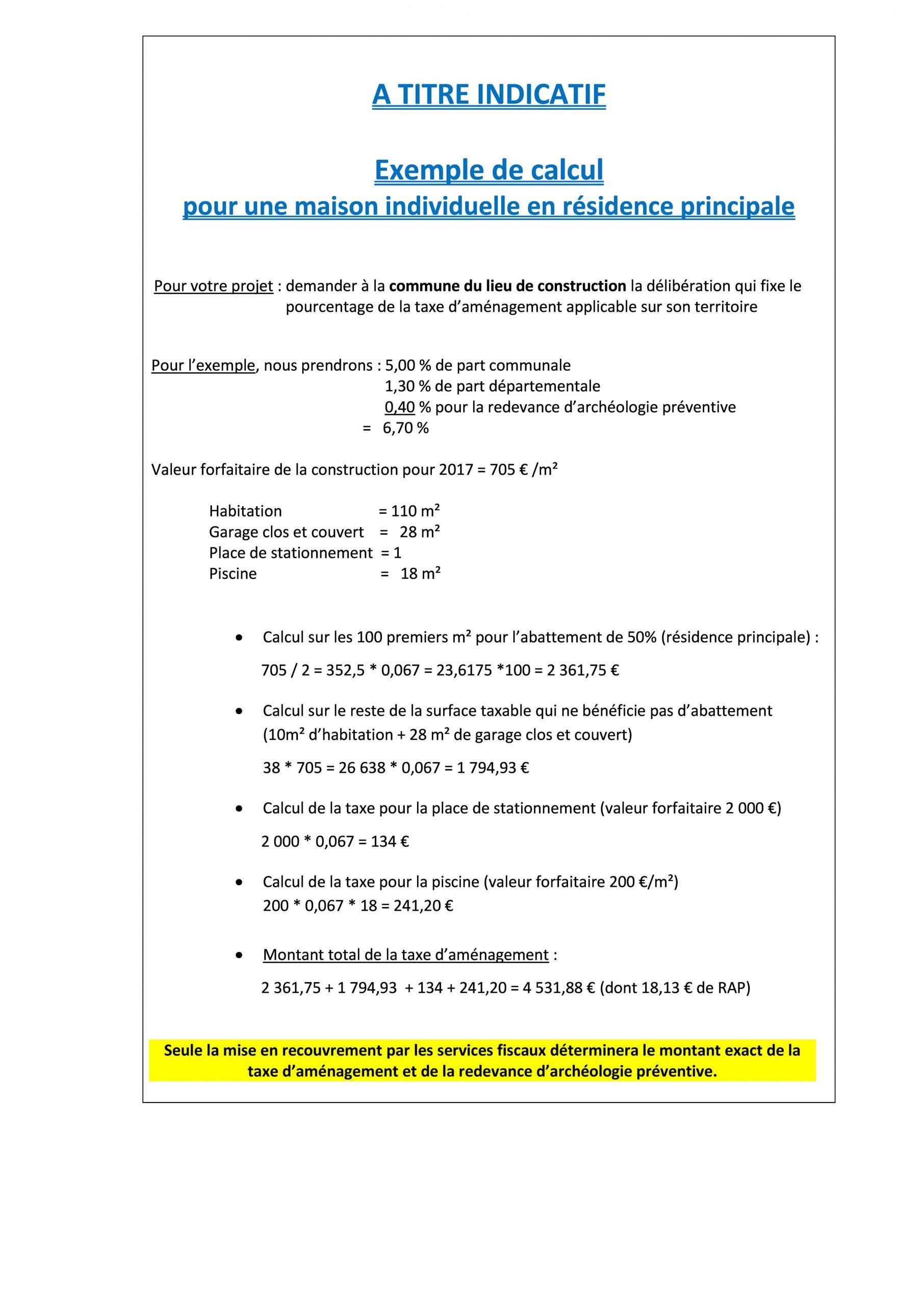 La Fiscalité   Piémont Cévenol avec Taxe Aménagement Piscine