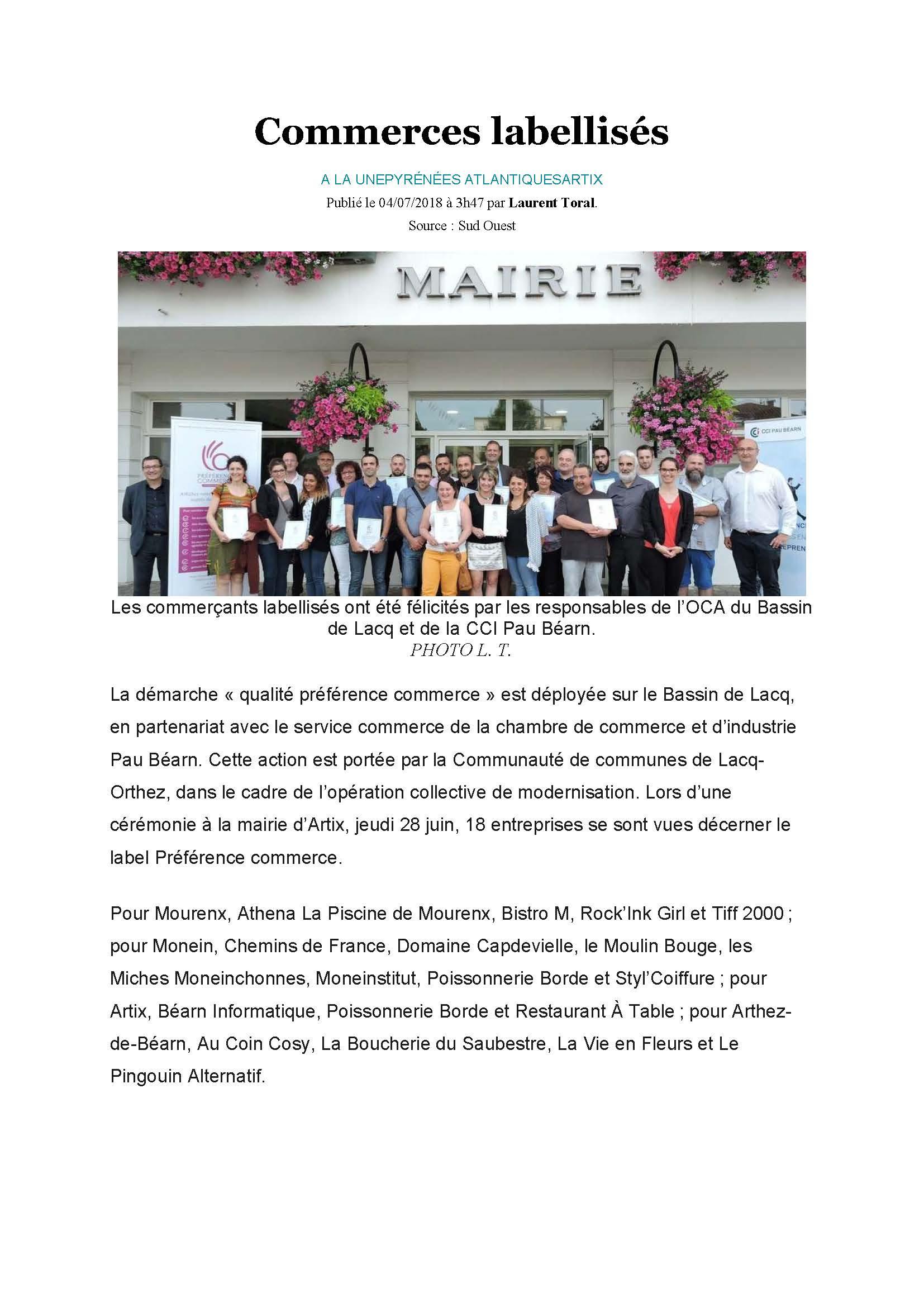 La Piscine De Mourenx Labellisé Qualité Préférence Commerce ... concernant Piscine De Mourenx