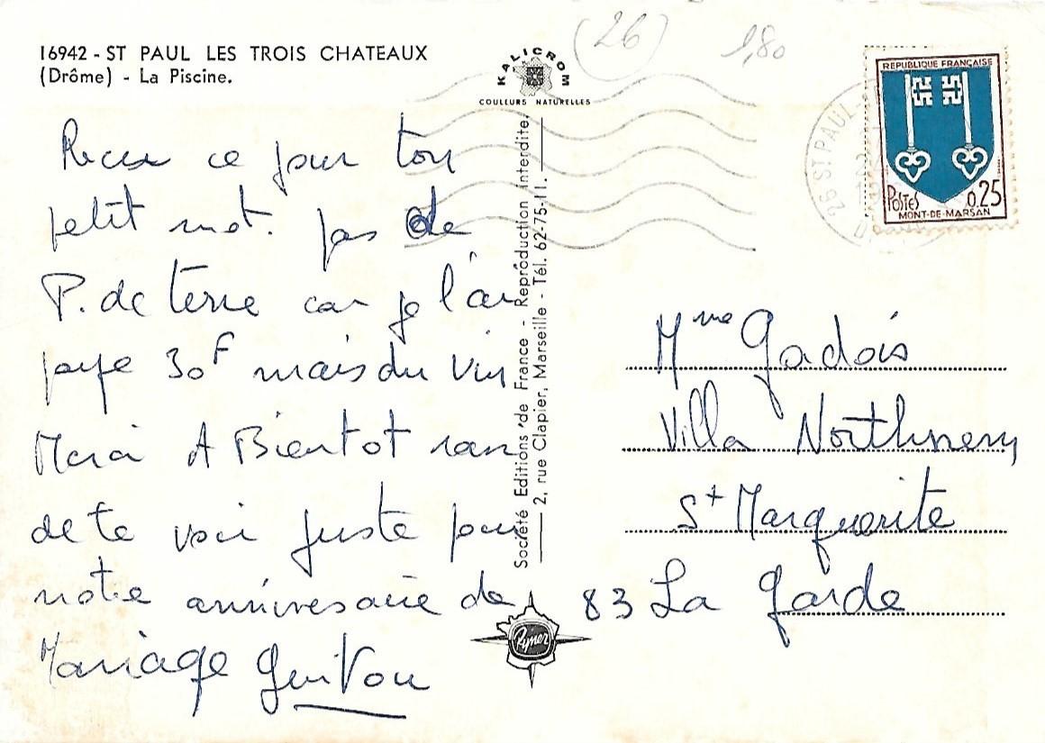 La Piscine De Saint-Paul-Trois-Châteaux (N°194) - Saint-Paul ... pour Piscine Saint Paul Trois Chateaux