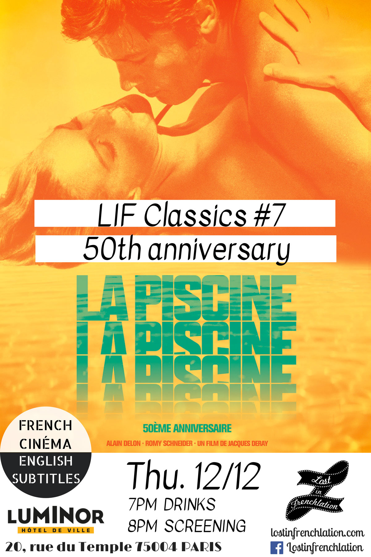 La Piscine - Lost In Frenchlation - French Films / English ... à Piscine Passion