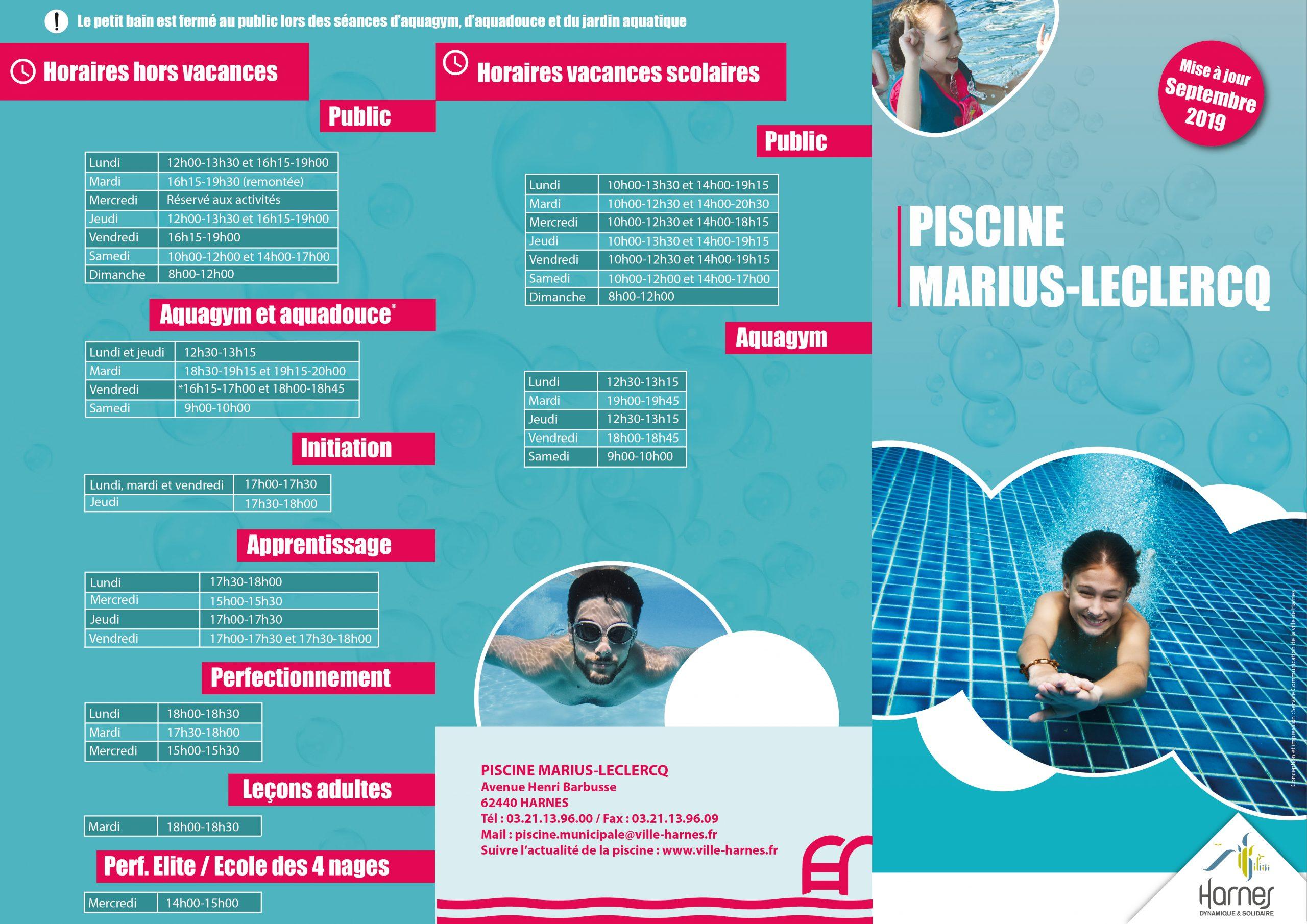 La Piscine Marius-Leclercq – Ville De Harnes concernant Piscine Harnes