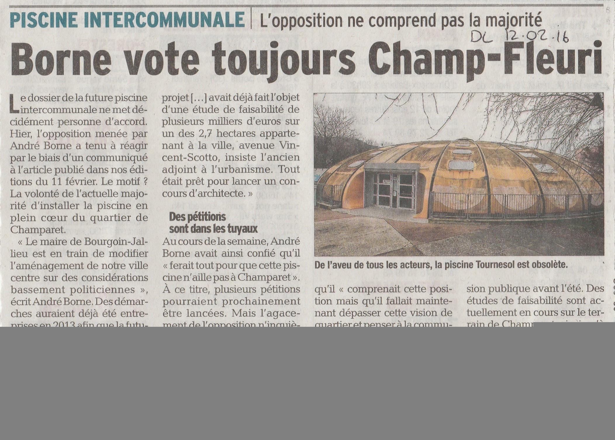 La Piscine Tournesol Reconstruite Sur Champfleuri – Section ... intérieur Piscine Bourgoin Jallieu
