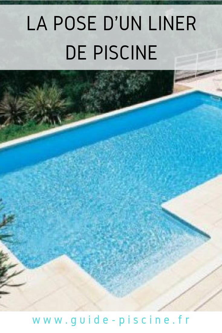 La Pose D'un Liner De Piscine | Liner Piscine, Installation ... concernant Escalier Piscine À Poser Sur Liner