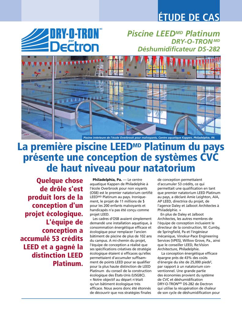 La Premiere Piscine Leedmd Platinum Du Pays intérieur Deshumidificateur Piscine